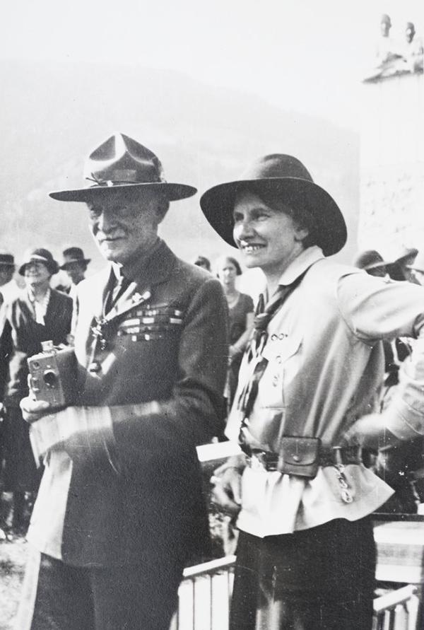Robert Baden-Powell on a visit to Switzerland, 1932.