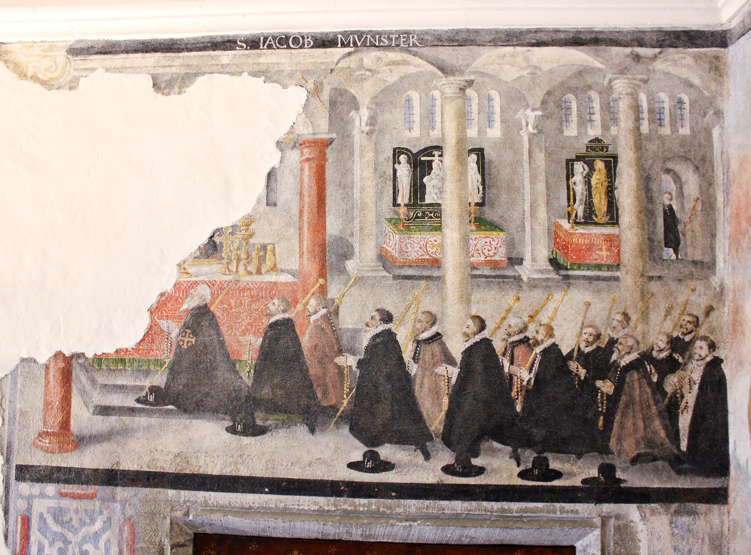 Wandgemälde in der Hauskapelle von Melchior Lussi (1529–1606) im Winkelriedhaus in Stans NW