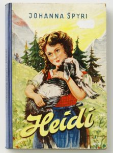 Cover picture of Johanna Spyri's novel Heidi in one of its many editions.