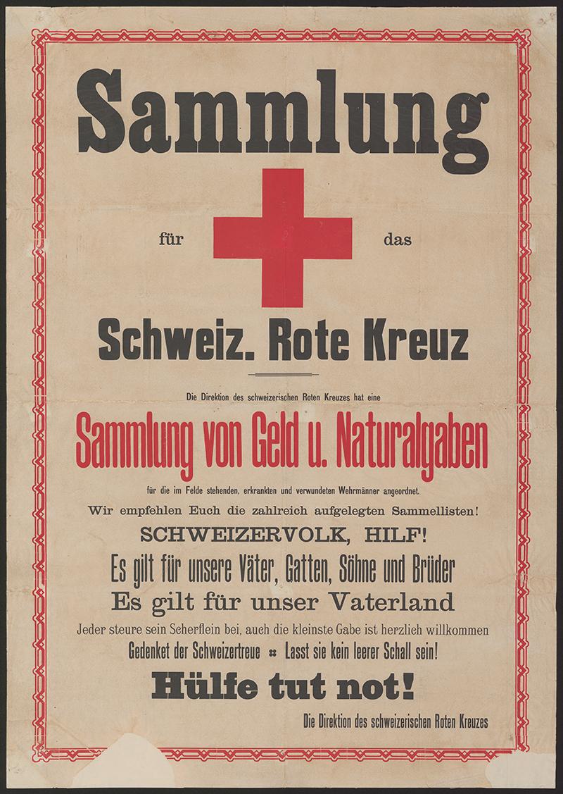 Affiche de la Croix-Rouge pendant la Première Guerre mondiale.