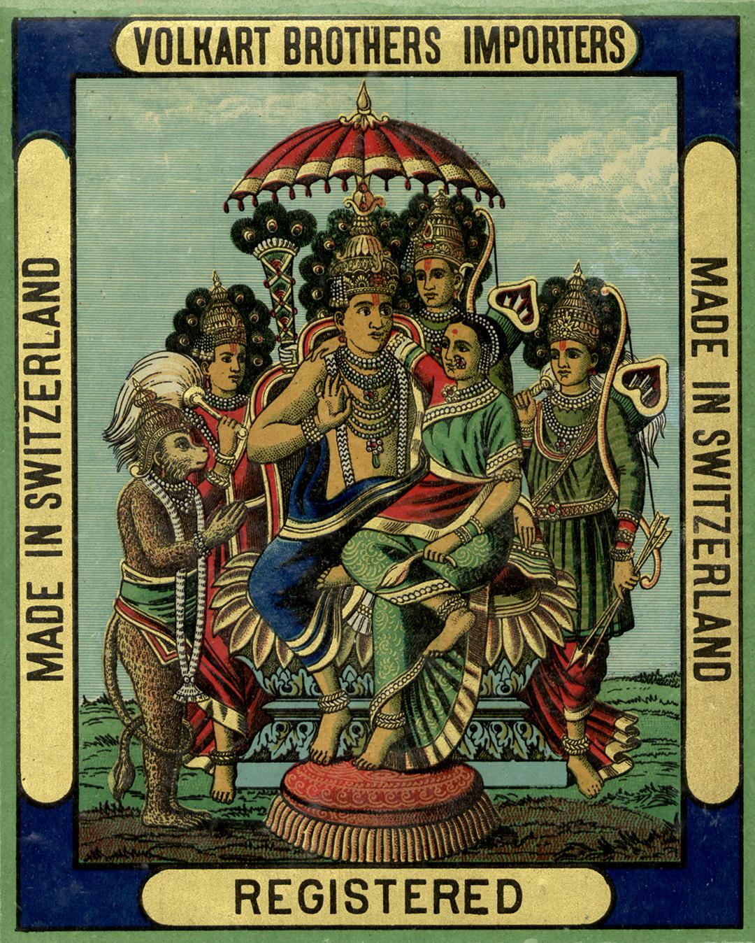 Volkart Etikette, ca. 1920.