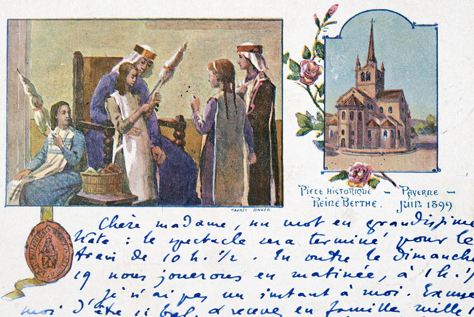 Postkarte mit Berta-Sujet von 1899.