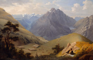 View of Mollis by Ludwig Adam Kelterborn, 1856.