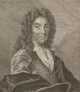 Portrait of Johann Jakob Scheuchzer. Graphic print, around 1750.