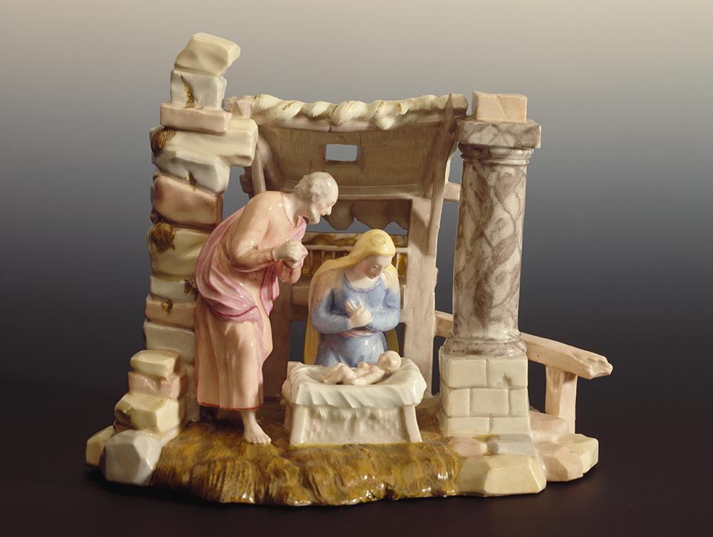 Porcelain nativity scene, late 19th century.