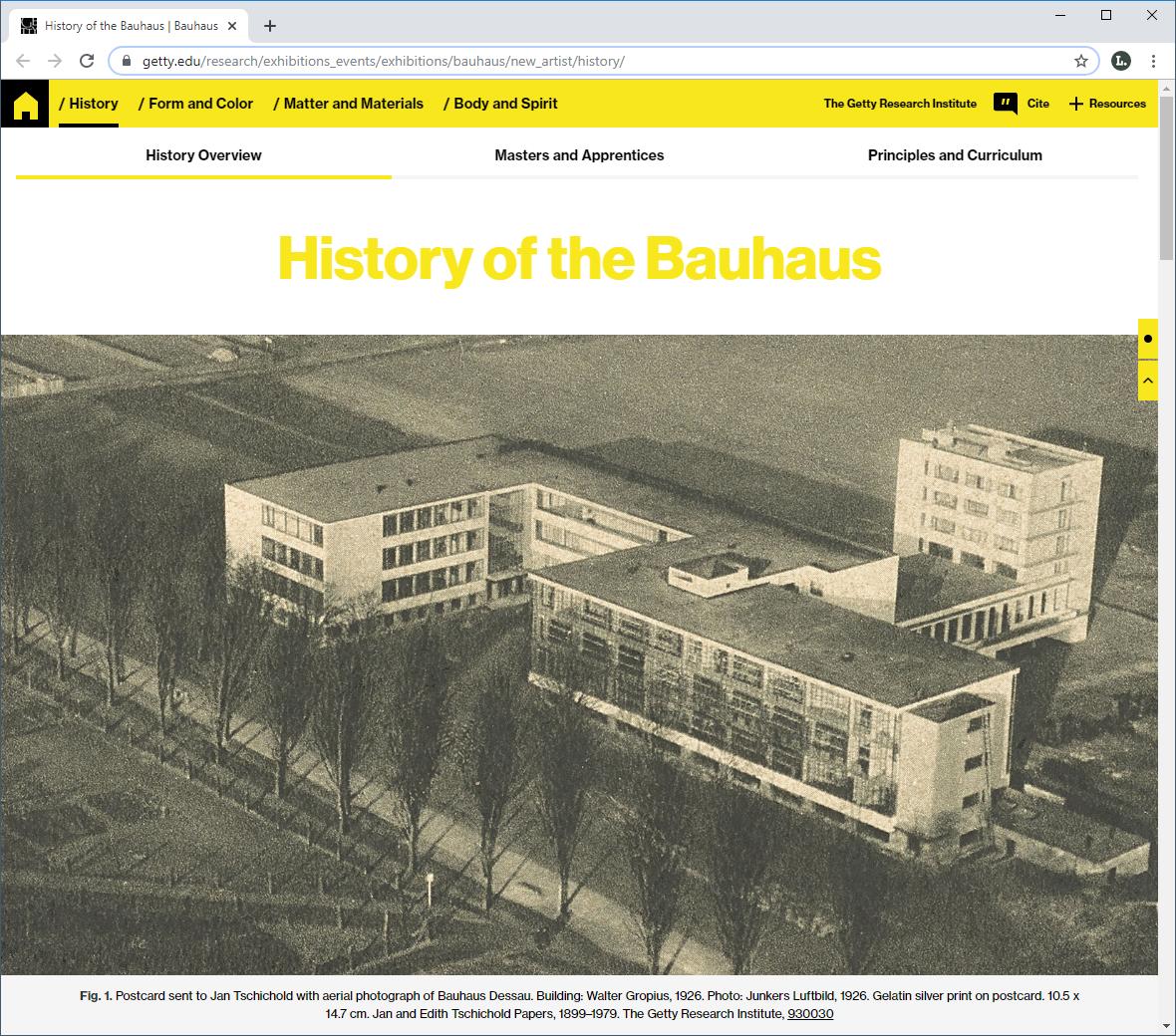 Virtuelle Bauhaus-Ausstellung «Bauhaus – Building the new artist»