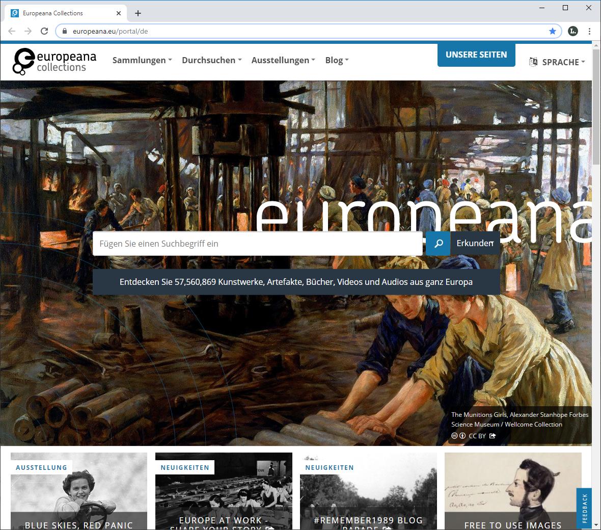 europäische Digitalplattform Europeana