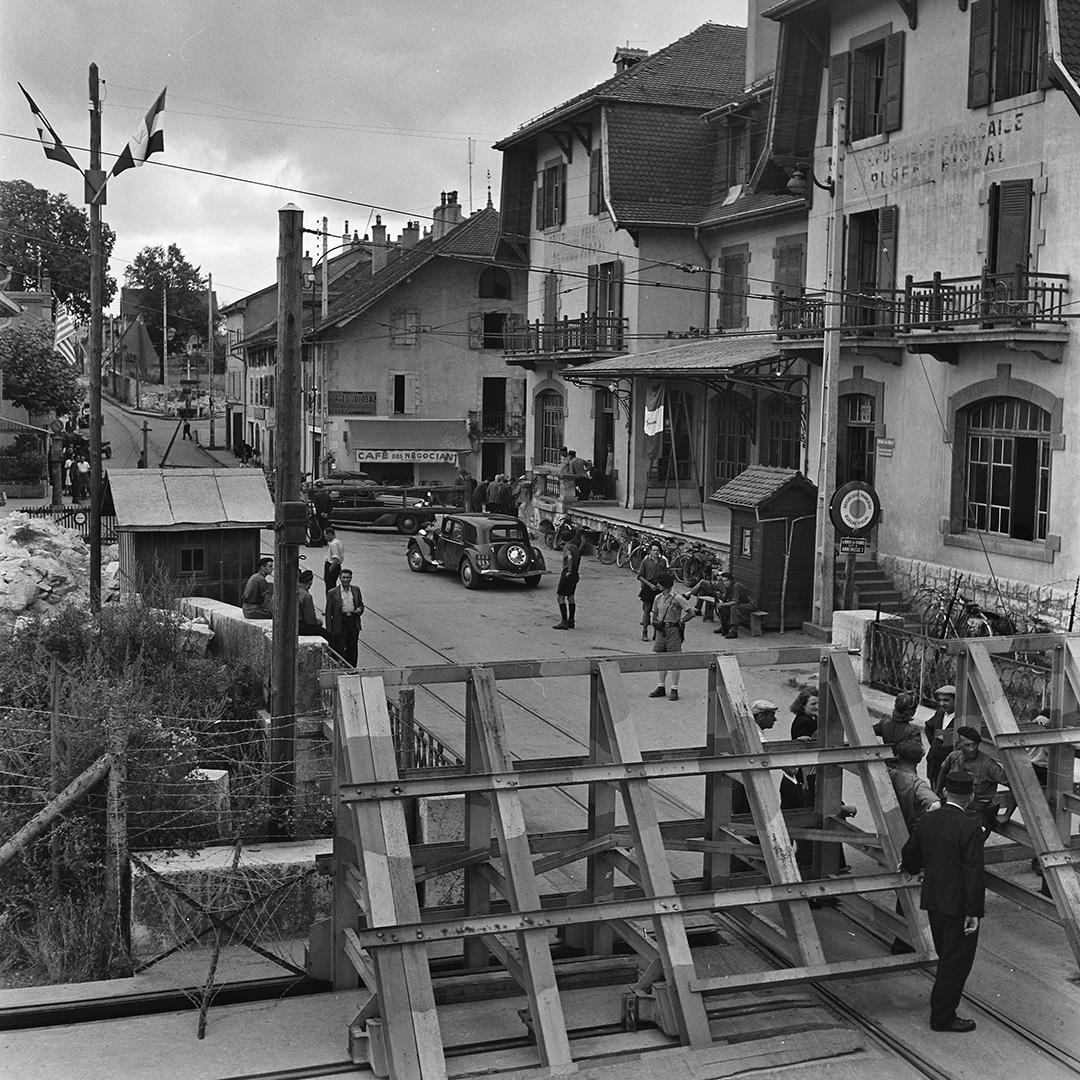 Grenzbesetzung durch die Deutschen in Genf, September 1943.