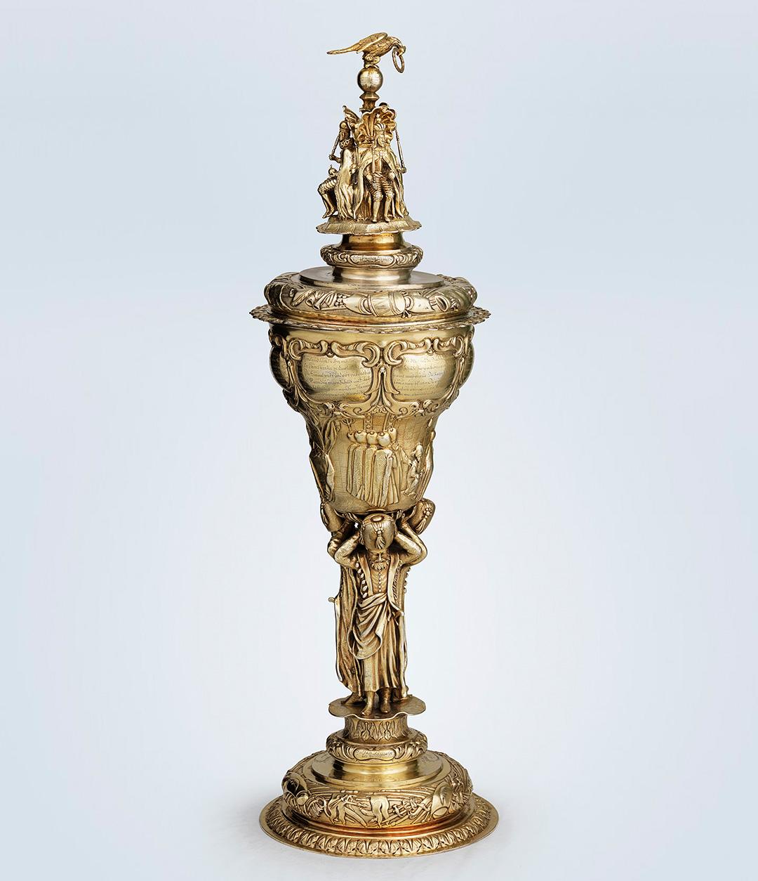 Silver-gilt lidded chalice, 1660.