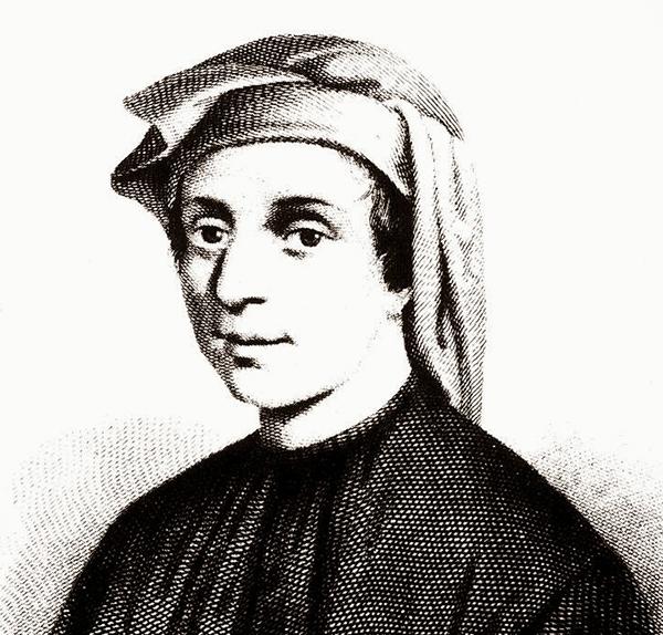 Portrait of the mathematician Fibonacci.