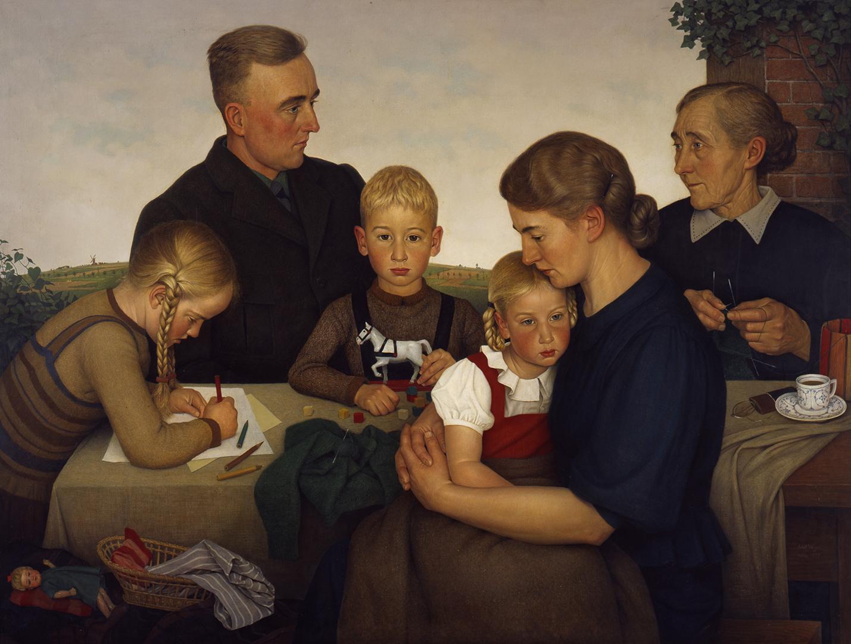 Adolf Wissel, Kahlenberger Bauernfamilie, 1939.