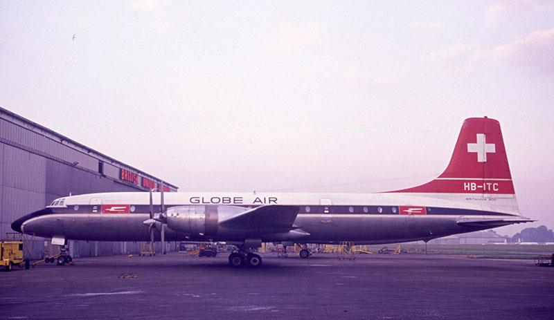 Eine Maschine der Globe Air 1966 in London.