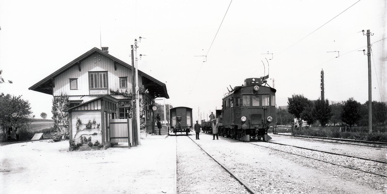 Test track between Zurich Seebach and Wettingen.