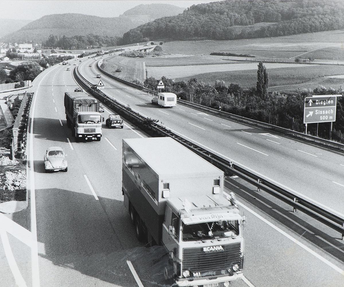 Autoroute près de Sissach (BL), années 1960.