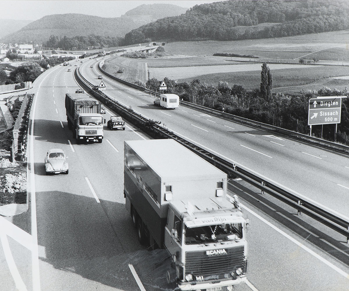 Autobahn near Sissach (Basel-Landschaft), 1960s.