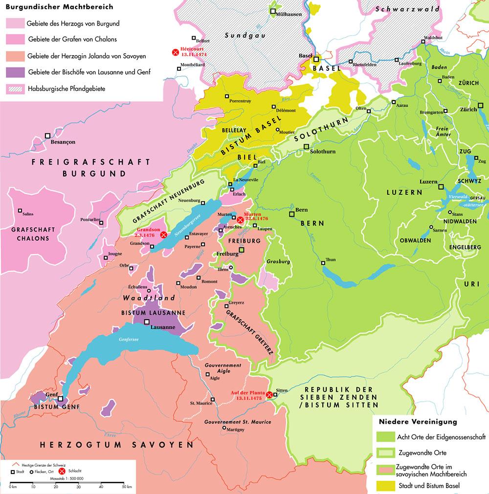 Burgundischer Machtbereich