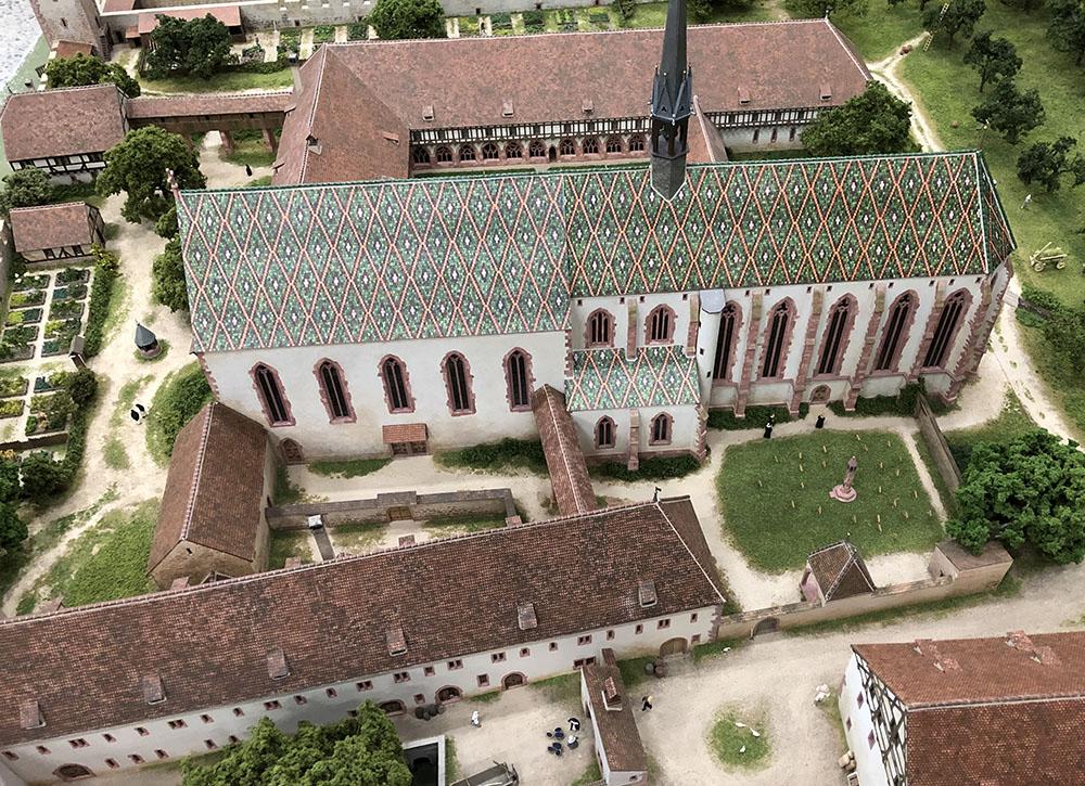 Vue de la maquette du couvent de Klingental vers 1500.