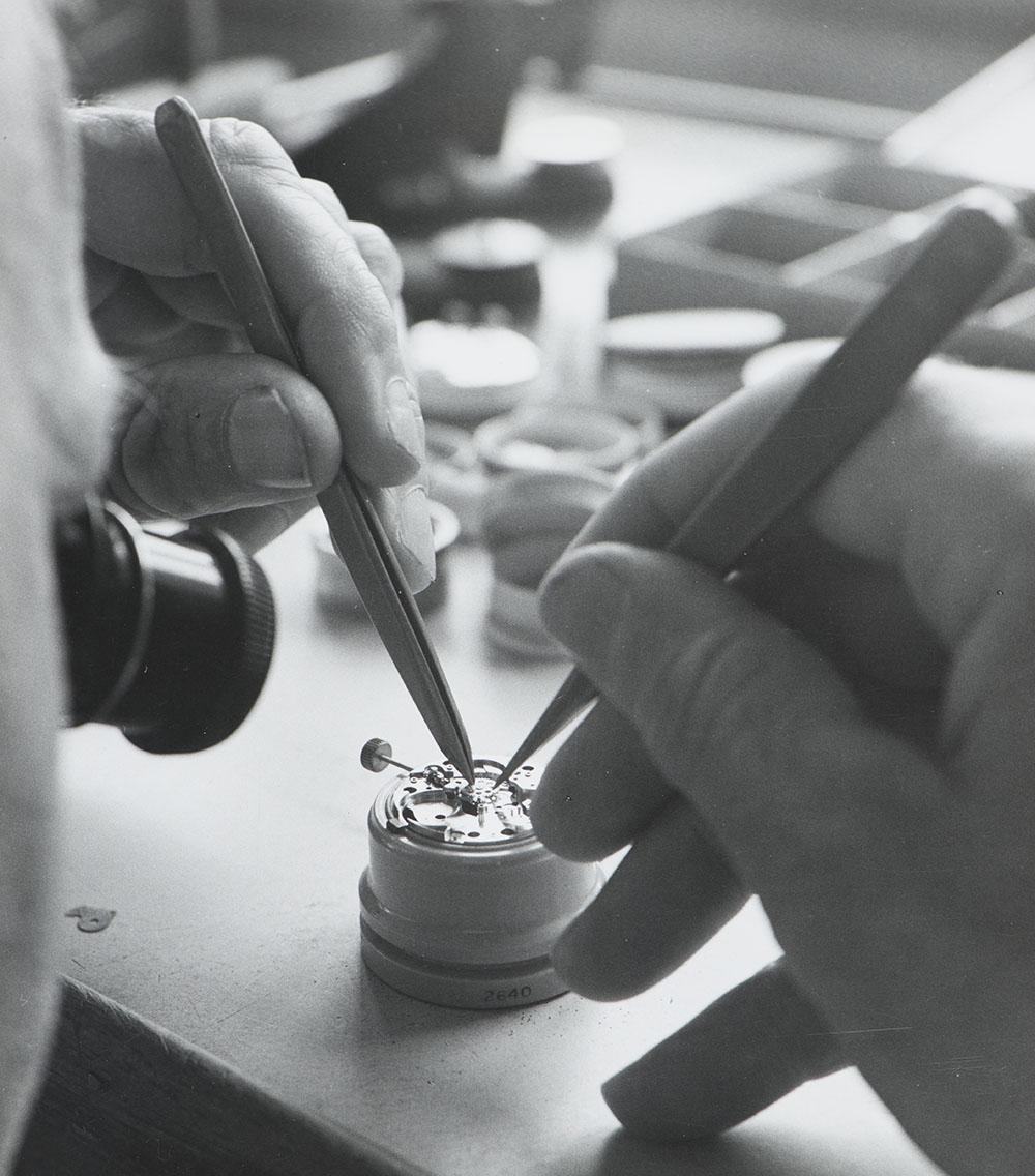 Manufacture horlogère, Waldenburg, 1959.