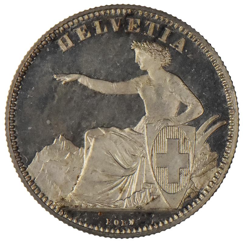 2-Franken-Stück 1850–1874.