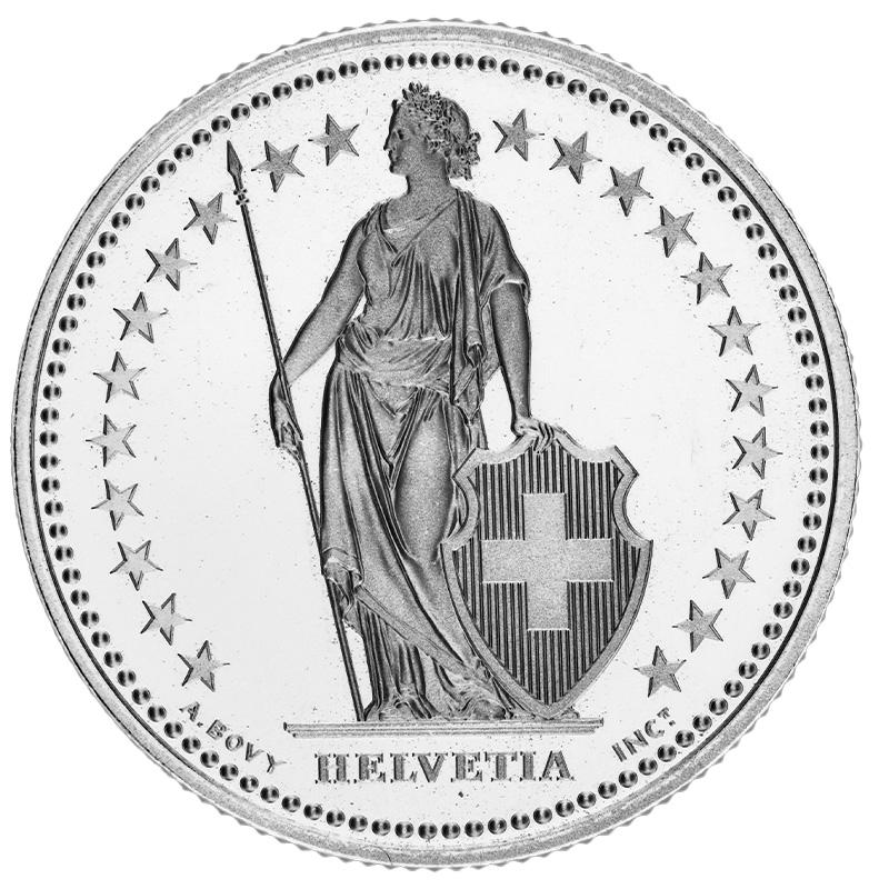 2-Franken-Stück seit 1874.