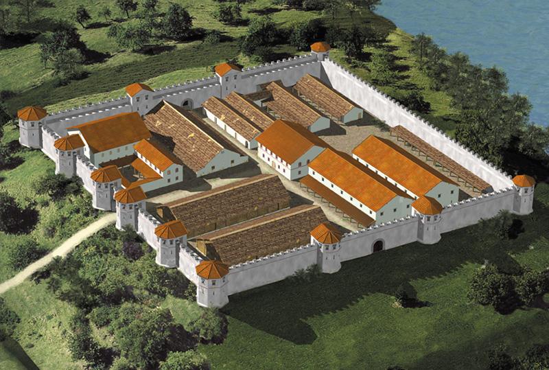 Reconstitution par ordinateur de la forteresse de Tasgetium
