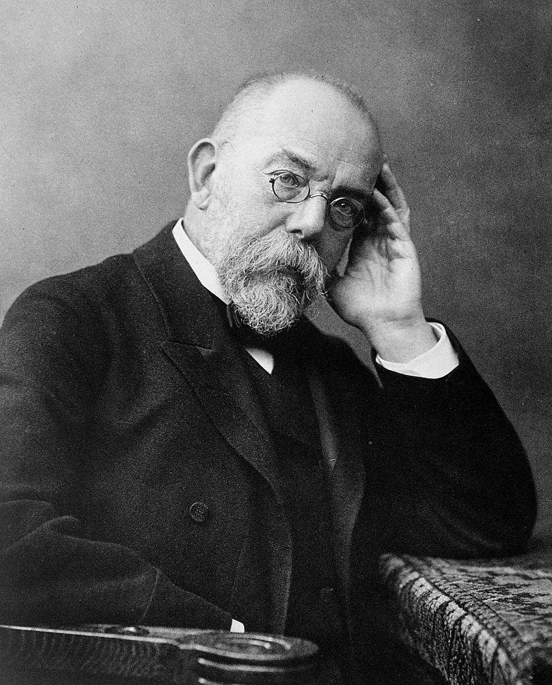 German doctor and microbiologist Robert Koch.