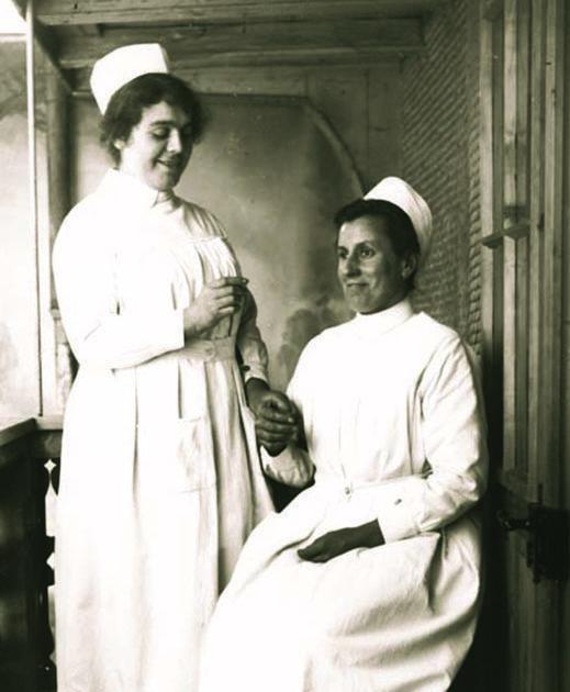 Two nurses around 1920.