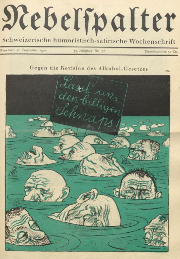 Titelblatt des Nebelspalters vom 16. September 1927.