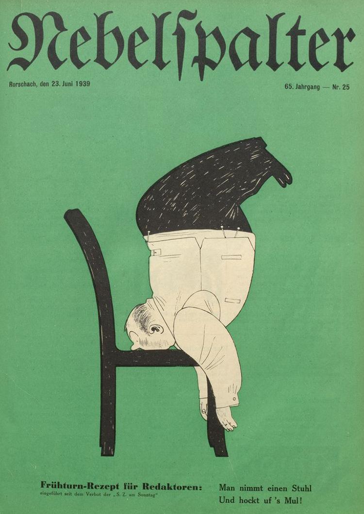 Titelblatt des Nebelspalters vom 23. Juni 1939.