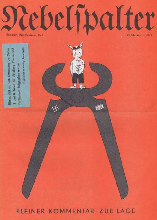 Titelblatt des Nebelspalters vom 15. Januar 1942.