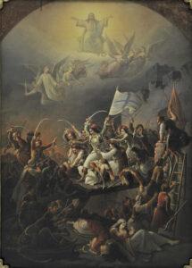 Der Ausfall von Messolonghi, gemalt von Theodoros Vryzakis, 1853.