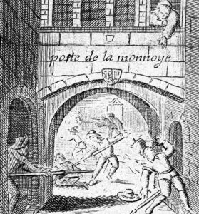 Madame Royaume in action in a 17th-century print.