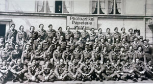 Towards the end of the war, British soldiers also came to Switzerland.