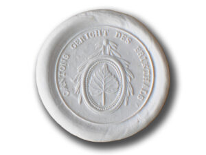 Le sceau du tribunal cantonal du Fricktal arborant la feuille de tilleul des armoiries du canton.