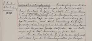 Excerpt from the minutes of the Federal Council meeting of 16 September 1898.