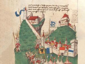 Les Confédérés devant Bellinzone et ses châteaux, 1422.