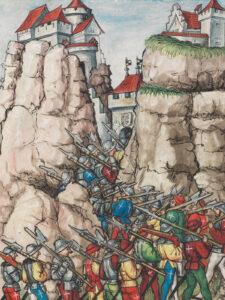 Arrivée des Confédérés à Bellinzone, 1509.