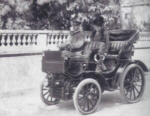 Hélène de Pourtalès und ihr Ehemann Hermann in Cannes, Ende des 19. Jahrhunderts.