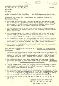 Les consignes furent de nouveau renforcées en 1943. Cette instruction remplaça celle d'octobre 1941.