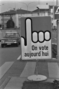 Affiche de vote, 1977.