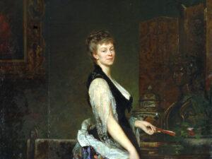 Portrait d'Adèle d'Affry, duchesse de Castiglione, par Édouard-Théophile Blanchard en 1877.
