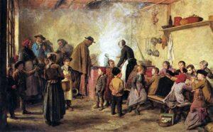 «Die Armensuppe», Gemälde von Albert Anker, 1893.
