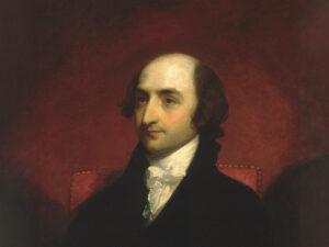 Albert Gallatin, um 1803, in einem Porträt von Gilbert Stuart.