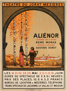 Plakat zur Aufführung von Aliénor in Mézières, 1910.