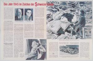 Article sur la planification de l'action «Don Suisse» dans la revue Sie und Er du 24 décembre 1944.