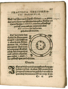 Page de Paracelse 'Astronomica et astrologica, publiée à titre posthume en 1567.