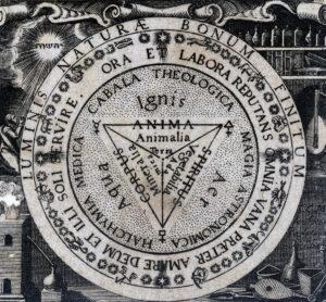 Astronomisch-theologische Kabbala von Paracelsus, gedruckt um 1700.