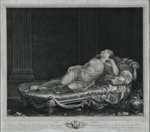 Augustin-Claude-Simon Le Grand, Le repos, 1785. Etching, Museum Schloss Waldegg, Wa 1018