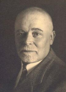 Augusto Giacometti dans les années 1930. Portrait d'Ernst Linck.