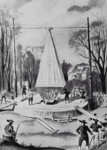 Vol en ballon des frères Tschann en 1784 à Soleure.